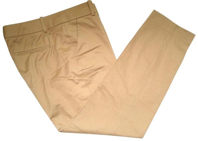 Item - Tan Beige Twill Cafe Trouser Pants Crop Ankle Capris Size 4 (S, 27)
