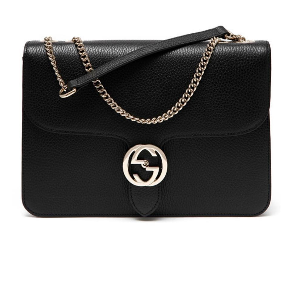 28007bc60 Gucci GG Marmont New 510303 Large Black Leather Shoulder Bag - Tradesy