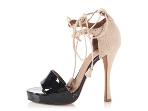 Hermès New Hr.p0312.13 Open Toe Gray and Black Sandals