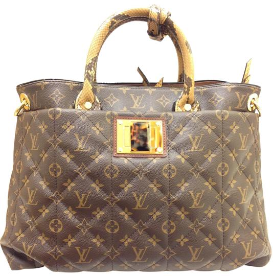 Preload https://img-static.tradesy.com/item/23303439/louis-vuitton-etoile-monogram-exotique-gm-brown-ostrich-python-tortoise-shell-coated-canvas-tote-0-1-540-540.jpg