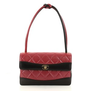 Chanel Leather Satchel in red