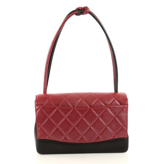 Chanel Leather Satchel in red Image 3