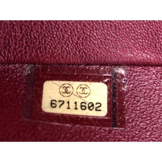 Chanel Leather Satchel in red Image 6
