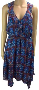 BeBop short dress Teal/Red on Tradesy