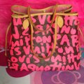 Louis Vuitton Sold Out Limited Edition Celebrity Rare Tote in Neon Pink Monogram Collectors Image 1