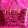 Louis Vuitton Sold Out Limited Edition Celebrity Rare Tote in Neon Pink Monogram Collectors Image 11
