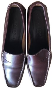 a.testoni Italy Loafer Leather Brown Flats