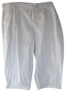 Khakis & Co Woman New Plus Cargo Capri/Cropped Pants White