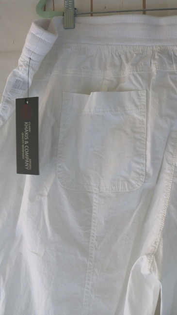 Khakis & Co Woman New Plus Cargo Capri/Cropped Pants White Image 2