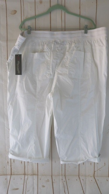 Khakis & Co Woman New Plus Cargo Capri/Cropped Pants White Image 3