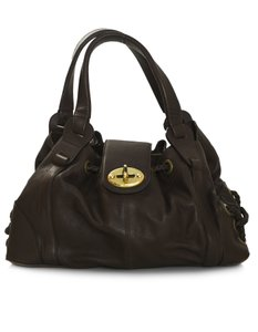 Mulberry Top Handle Tote in brown