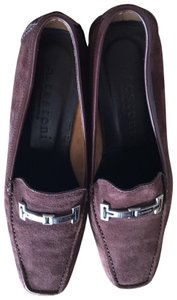 a.testoni Italy Loafer Suede Brown Flats