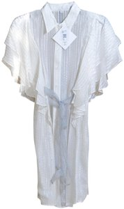 Badgley Mischka short dress White Beach Cover New With Tags Pool Side on Tradesy