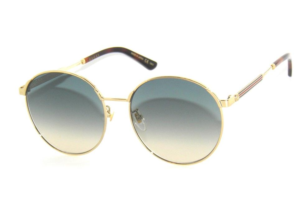 5b6d1ec7b210 Gucci Gold/Red/Blue Gg0206sk 005 Round Oversized New Sunglasses ...