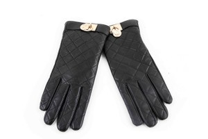 Michael Kors Michael Kors Leather Quilted Padlock Gloves