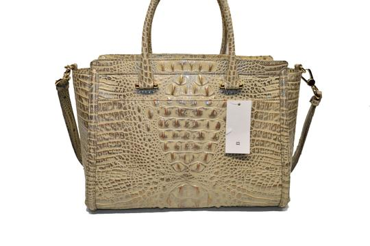 Brahmin Croco Business Harper Satchel in Silver Birch Melbourne Image 2