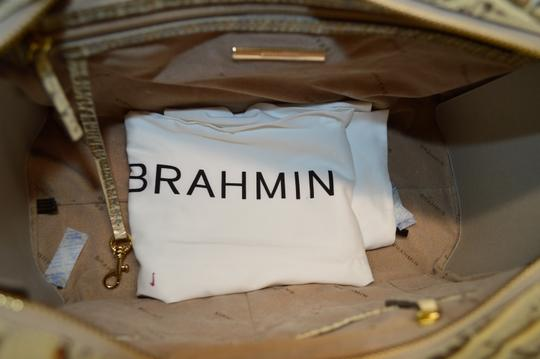 Brahmin Croco Business Harper Satchel in Silver Birch Melbourne Image 6