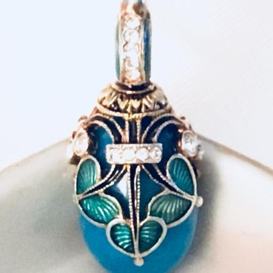 Faberge Egg Pendant Vintage Handmade Faberge Style St Petersburg Russian Egg Pendant Image 0
