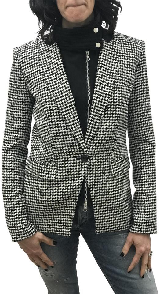 fd86557ba8be9c Black and White Khan Peak Lapel Dickey Jacket Blazer. VERONICA BEARD