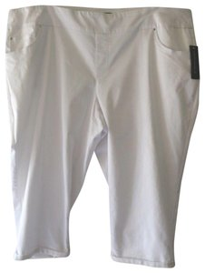 Counterparts Slimming Tummy Control New Capri/Cropped Pants White