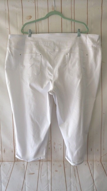 Counterparts Slimming Tummy Control New Capri/Cropped Pants White Image 1
