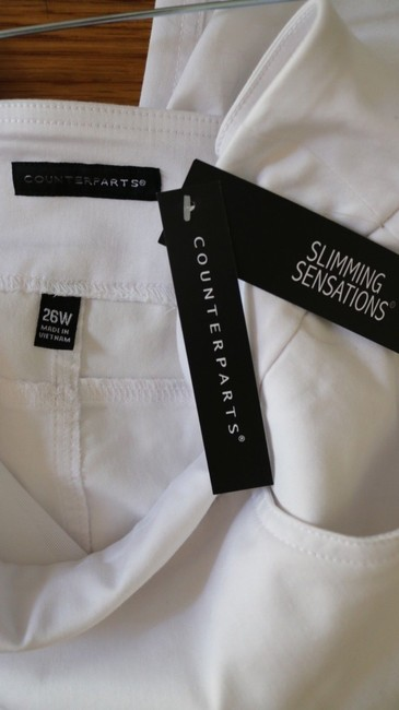Counterparts Slimming Tummy Control New Capri/Cropped Pants White Image 2