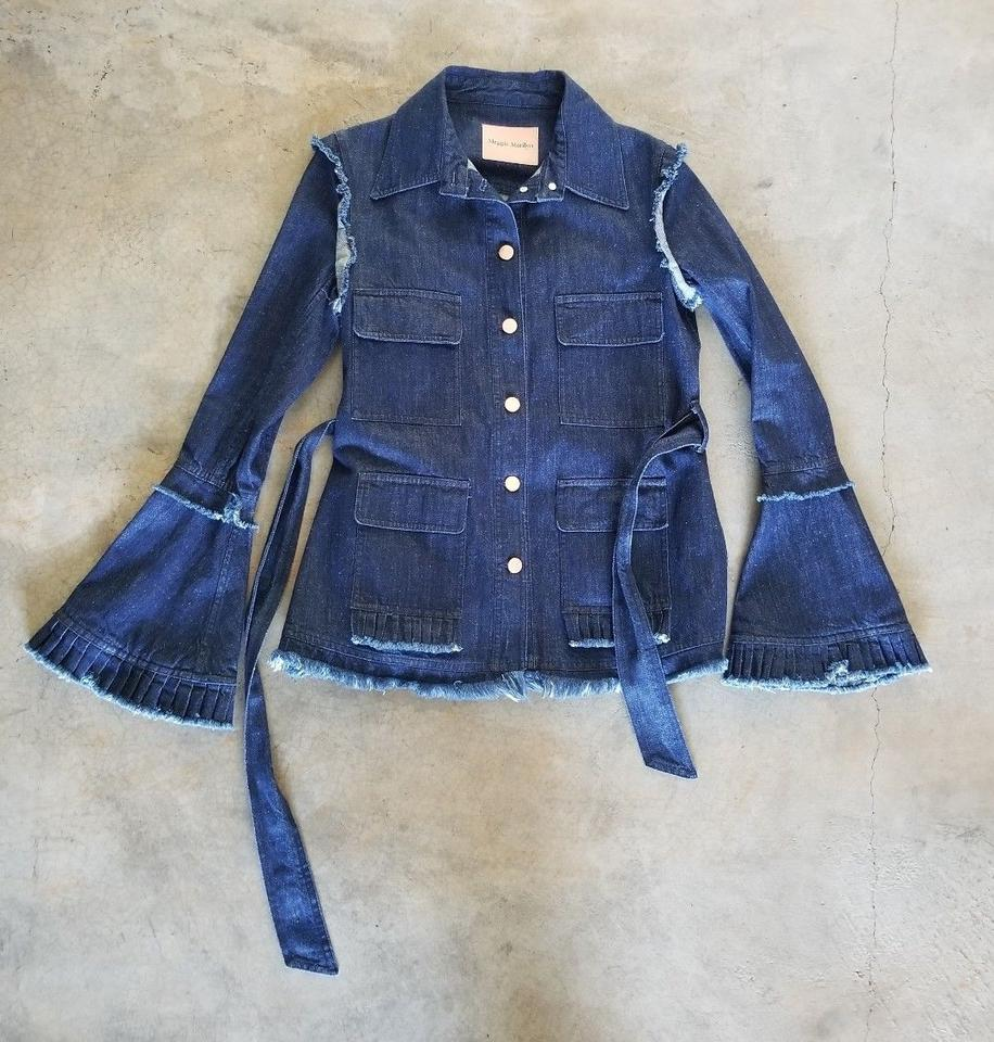 c3af8ce84 Maggie Marilyn Indigo Blue George Ii Bohemian Statement Bell Sleeve Jacket  Size 2 (XS) 54% off retail
