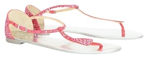 Giuseppe Zanotti Crystal Strappy Suede Metallic Pink Sandals