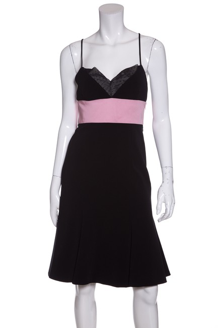 Preload https://img-static.tradesy.com/item/23304109/ralph-lauren-collection-black-and-pink-short-cocktail-dress-size-4-s-0-0-650-650.jpg