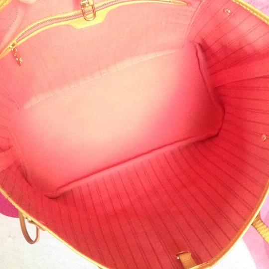 Louis Vuitton Collectors Sold Out Limited Edition Celebrity Rare Tote in Red Coral Pink Monogram Image 1