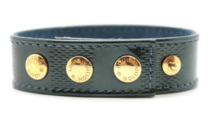 Louis Vuitton Rare Damier Vernis leather Sapporo gold hardware bracelet