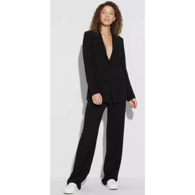 Theory Pull On Crepe Trouser Pants Black Image 2