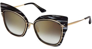 Dita DITA STORMY 22033-A Smoke Black Gold Crystal Swirl 18K Sunglasses Gold