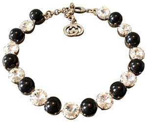 Gucci GG Crystal & Glass Gold Adjustable Necklace