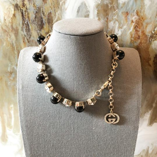 Gucci GG Crystal & Glass Gold Adjustable Necklace Image 2