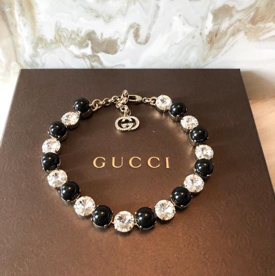 Gucci GG Crystal & Glass Gold Adjustable Necklace Image 4