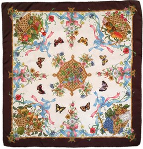 Gucci Vintage Gucci multi floral butterfly and basket scarf