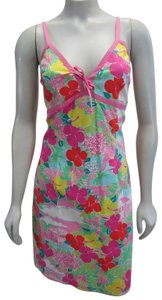 Lilly Pulitzer short dress multicolor Layla Floral Pink Print on Tradesy