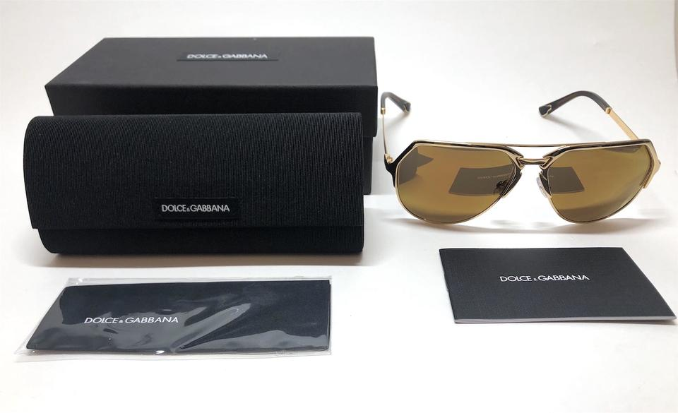 2d41337690b25 Dolce Gabbana Gold Plated   18kt   Brown Gold Mirrored Lens Free 3 Day  Shipping Dg 2151 K44 F9 New Aviator Sunglasses - Tradesy
