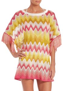 Missoni Missoni Fringed Crochet-Knit Tunic with tags