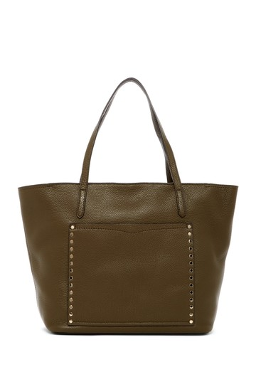 Preload https://img-static.tradesy.com/item/23304967/rebecca-minkoff-unlined-front-pocket-beads-moss-brown-leather-tote-0-0-540-540.jpg
