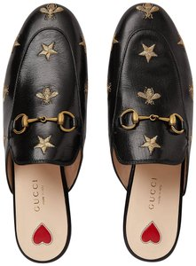 Gucci Princetown Bees Embroidered black Mules