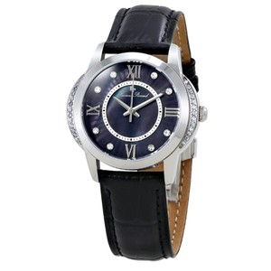 Lucien Piccard Dalida Black Leather/Mother of Pearl Dial Stainless Steel Ladies Watch
