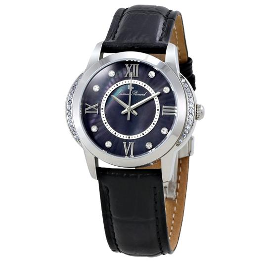 Preload https://img-static.tradesy.com/item/23305133/lucien-piccard-silver-black-dalida-leathermother-of-pearl-dial-stainless-steel-ladies-watch-0-0-540-540.jpg