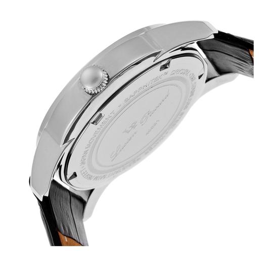 Lucien Piccard Dalida Black Leather/Mother of Pearl Dial Stainless Steel Ladies Watch Image 1