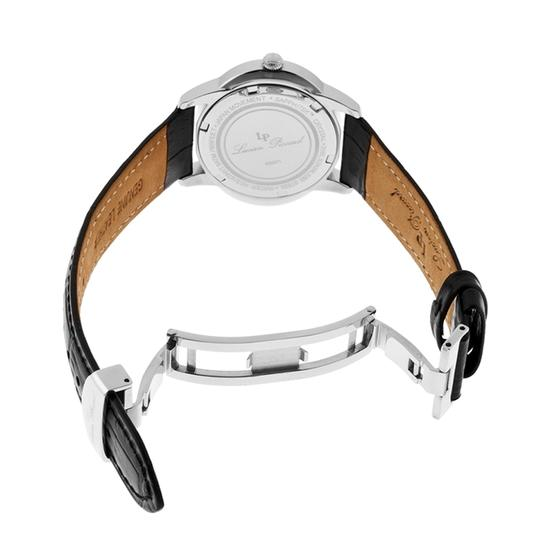 Lucien Piccard Dalida Black Leather/Mother of Pearl Dial Stainless Steel Ladies Watch Image 2