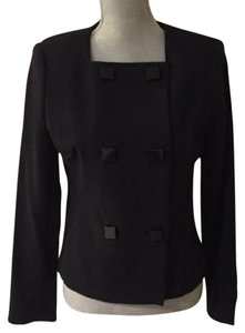 MICHAEL Michael Kors Jacket Square Buttons Double Breasted Lined Black Blazer