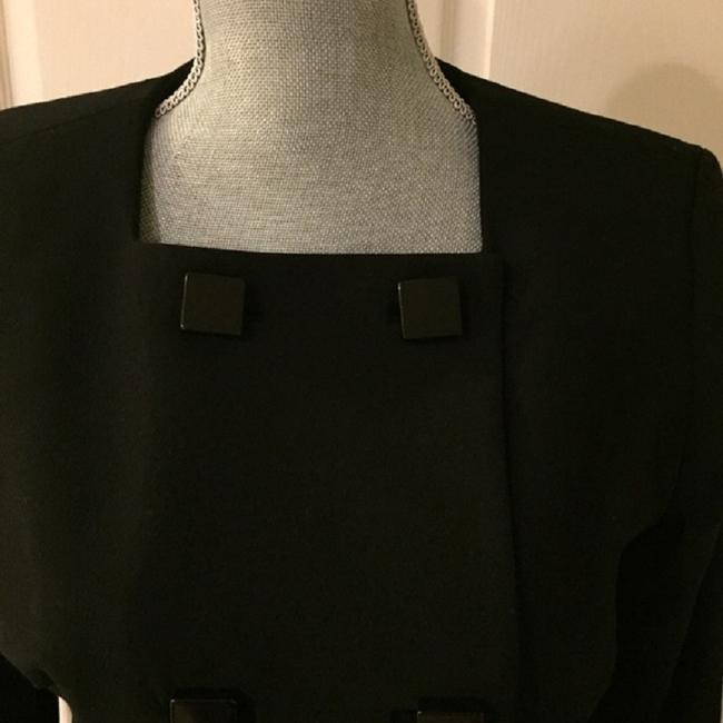 MICHAEL Michael Kors Jacket Square Buttons Double Breasted Lined Black Blazer Image 1