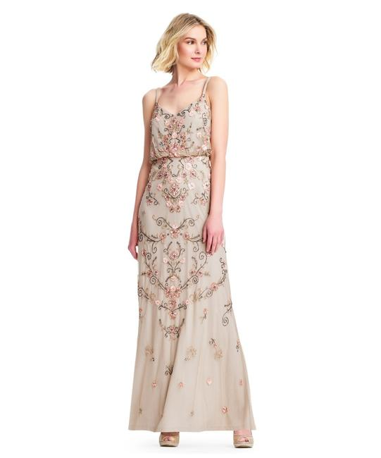 Adrianna Papell Boho Beaded Gown Evening Dress Image 2