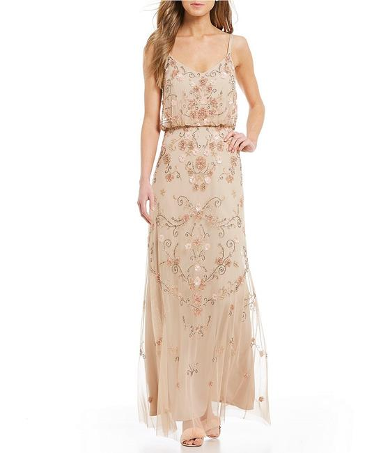 Adrianna Papell Boho Beaded Gown Evening Dress Image 3